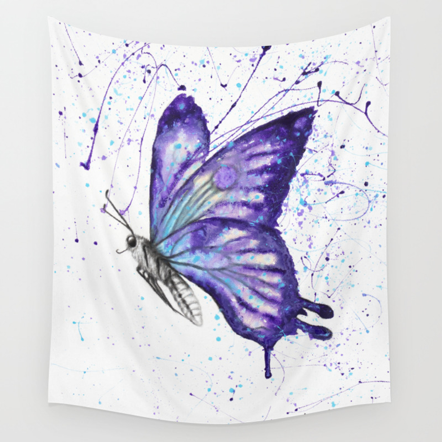 Lavender Butterfly Wall Tapestry By Ashvinharrison Society6