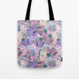 Purple and blue Lilac & Hydrangea - Flower Design Tote Bag