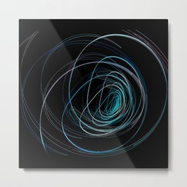 Round light Metal Print