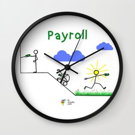 Pay, Roll and Jump! Wall Clock