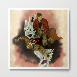 Werewolf!Dean and Castiel Metal Print