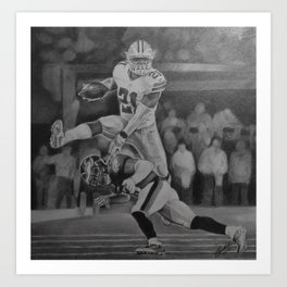 Zeke Elliott Jump #3 Art Print