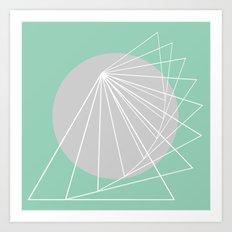 Everything belongs to geometry #5 Art Print