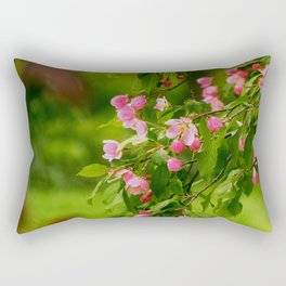 Apple Blossoms in the Spring Rectangular Pillow