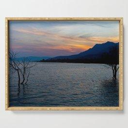 Sunset in Laguna de Chapala Serving Tray