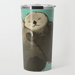 Significant Otters - Otters Holding Hands Travel Mug