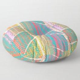 370 20 Neon Rustic Bohemian Shag Floor Pillow