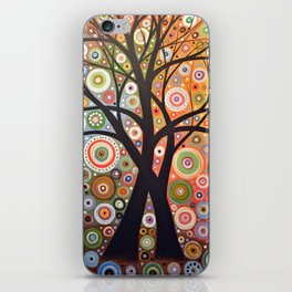 Abstract Art Landscape Original Painting ... Magic Garden iPhone Skin
