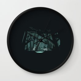 Chasing fireflies Wall Clock