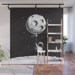 Fly Moon Wall Mural