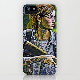 The Last of Us Ellie Artistic Illustration Infected Style iPhone Case
