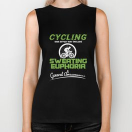 Cycling Sweating Euphoria Cyclist Bicycle MTB BMX Lovers Gifts Biker Tank