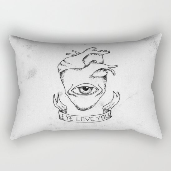 EYE LOVE YOU Rectangular Pillow