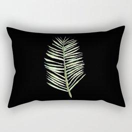 PALM ARECA - BLACK BACKGROUND Rectangular Pillow