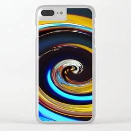 Swirling colors 03 (Swirl) Clear iPhone Case