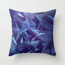 Polygon Jungle Throw Pillow
