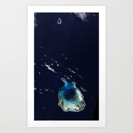 Cocos (Keeling) Islands by NASA Art Print