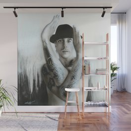 Twisting And Turning Your Feelings Are Burning Wall Mural