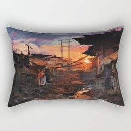Where Heroes Are Rectangular Pillow