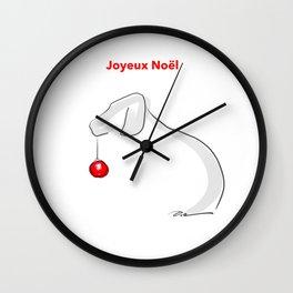 Joyeux Noël Weimaraner Wall Clock