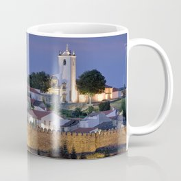 Braganca castle at dusk, Portugal Coffee Mug