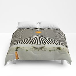 Solar butterfly Comforters