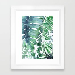 Tropical  Leaves Framed Art Print