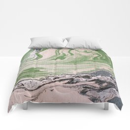 Marbled paper desert colored Comforters
