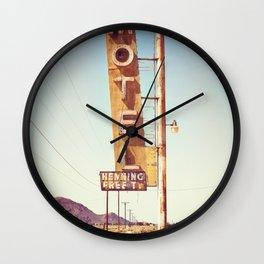 The Motel Wall Clock