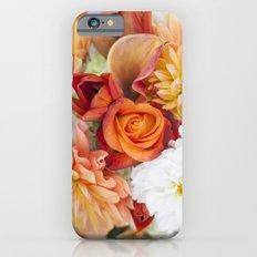 orange, yellow and white flowers iPhone 6s Slim Case