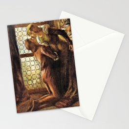 12,000pixel-500dpi - Gaetano Previati - The kiss - Digital Remastered Edition Stationery Cards