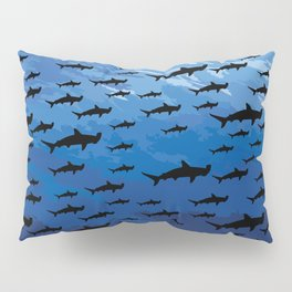 Hammerhead Sharks - Scuba Diving Pillow Sham