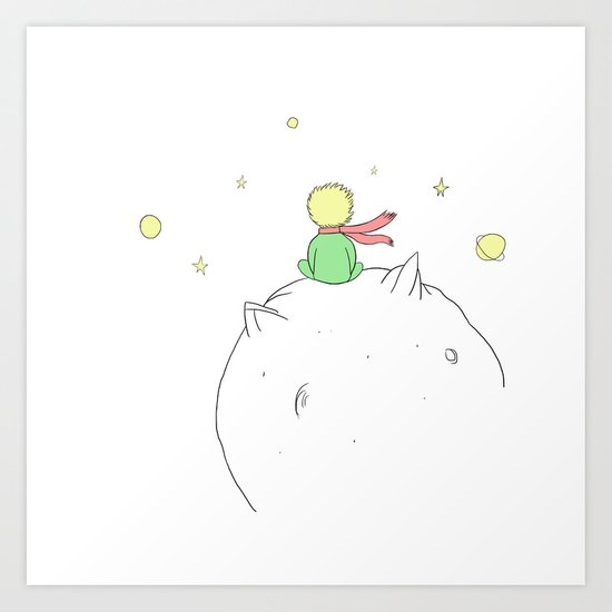 The little prince Art Print by Fernanda Schallen