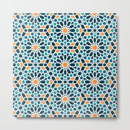 Tile of the Alhambra Metal Print