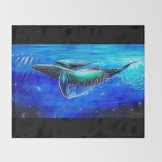 Cosmic Humpback Throw Blanket