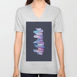Ultraviolet Aura Crystals Unisex V-Neck