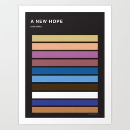 The colors of StarWars - A New Hope episode 4 Art Print
