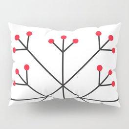 Mod Snowflake Red Berries Pillow Sham