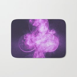 Clubs symbol. Playing card. Abstract night sky background Bath Mat