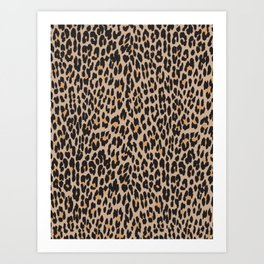 Animal Print, Spotted Leopard - Brown Black Art Print