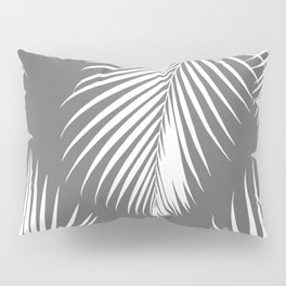 Dark Gray Tropical Pattern Pillow Sham