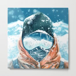climber in the everest Metal Print