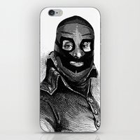 wrestling iPhone & iPod Skins featuring Wrestling mask 3 by DIVIDUS