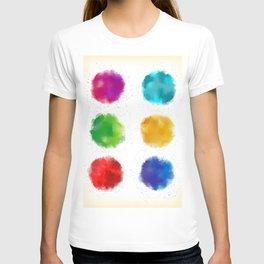 Colorful watercolor splatters T-shirt