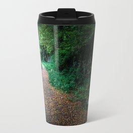 Golden Autumn lane Travel Mug