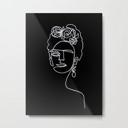 Frida Kahlo BW Metal Print