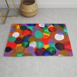 Colorful Circle Smash Rug