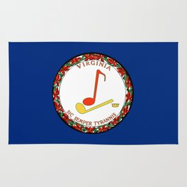 Musical Flag of Virginia Rug