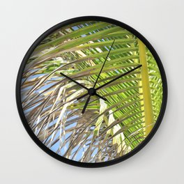Under the Palm Tree Wall Clock