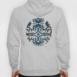 Blue Oriental Vintage Tile 02 Hoody